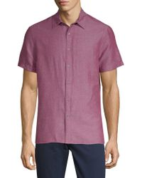 Perry Ellis - Short-sleeve Button-down Shirt - Lyst