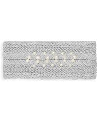 Badgley Mischka Faux Pearl-embellished Headband - Gray