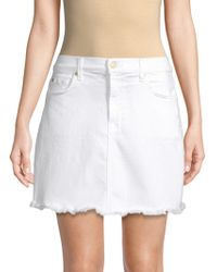 7 For All Mankind - A-line Mini Skirt - Lyst