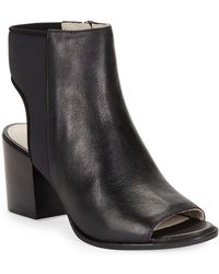 Kenneth Cole - Charlo Leather Open-toe Booties - Lyst