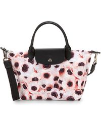 Longchamp - Le Pliage Floral Top Handle Bag - Lyst