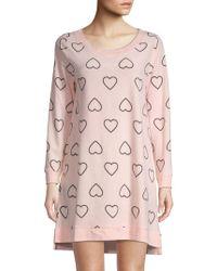 Betsey Johnson - Heart-print Scoopneck Sleepshirt - Lyst