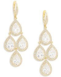 Adriana Orsini - Crystal Chandelier Earrings - Lyst
