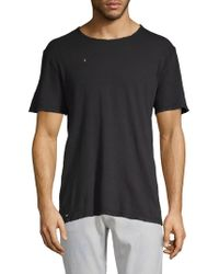 AG Jeans - Distressed Cotton Tee - Lyst