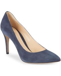 Armani - Suede High Heel Court Shoes - Lyst