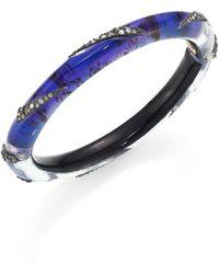 Alexis Bittar - Crystal-encrusted Origami Inlay Hinge Bracelet - Lyst