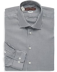 Hickey Freeman - Gingham Cotton Dress Shirt - Lyst