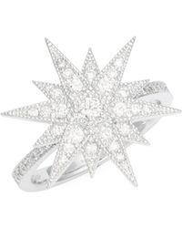 KC Designs - Diamond 14k White Gold Heart Starburst Ring - Lyst