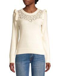 Rebecca Taylor - Emilie Wool-blend Sweater - Lyst