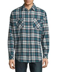 Standard Issue - Plaid Cotton Button-down Shirt - Lyst