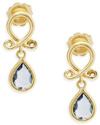 Temple St. Clair - 18k Yellow Gold Loop Drop Earrings - Lyst