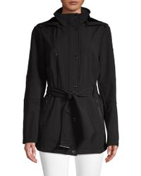 4c7bf2872aff Lyst - MICHAEL Michael Kors Petite Quilted Hooded Down Coat in Black