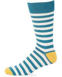 Saks Fifth Avenue - Three-pack Striped Crew Socks - Lyst