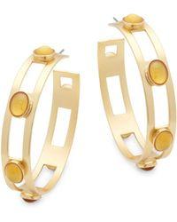 Stephanie Kantis - Monaco Citrine Hoop Earrings - Lyst