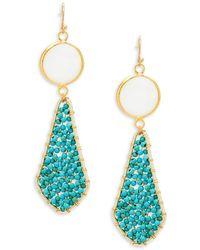 Panacea - Mother-of-pearl Beaded Drop Earrings - Lyst