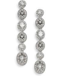 Adriana Orsini - Faceted Linear Drop Earrings - Lyst