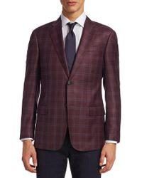Giorgio Armani - Raspberry Wool Plaid G Line Sportcoat - Lyst