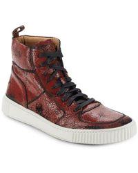John Varvatos - Bedford Leather High-top Sneakers - Lyst