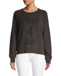 Zadig & Voltaire - Distressed Graphic Sweatshirt - Lyst