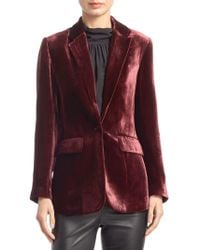 Saks Fifth Avenue - Collection Velvet Blazer - Lyst