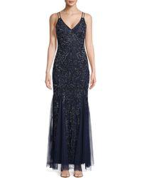 Aidan Mattox - Embellished Floor-length Gown - Lyst