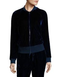 Saks Fifth Avenue - Collection Velvet Bomber Jacket - Lyst