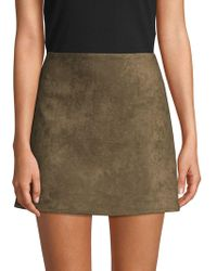 French Connection - Classic Faux Suede Mini Skirt - Lyst