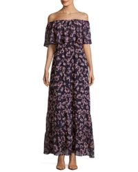 Donna Morgan - Floral Print Dress - Lyst