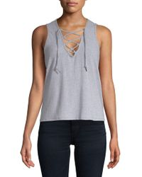 Betsey Johnson - Bleach-washed Tank Top - Lyst