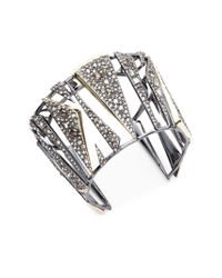 Alexis Bittar - Crystal-encrusted Hinged Cuff Bracelet - Lyst
