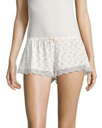 Eberjey - Plume Of Love Printed Shorts - Lyst