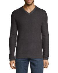 Saks Fifth Avenue - V-neck Merino Wool Sweater - Lyst
