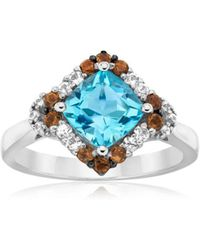 Le Vian - Chocolatier® Aquamarine & Sapphire 14k White Gold Ring - Lyst