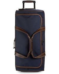 Longchamp - Two-tone Canvas Wheeled Luggage - Lyst