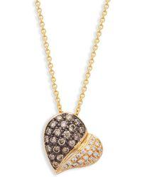 Le Vian - Chocolatier® Chocolate & Vanilla Diamondstm 14k Honey Goldtm Heart Pendant Necklace - Lyst