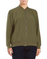 Vince Camuto - Plus Soft Bomber Jacket - Lyst