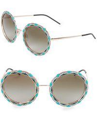 Emporio Armani - Ea2054 55mm Round Sunglasses - Lyst