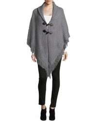 Collection 18 - Grid Stitch Sweater Cape - Lyst