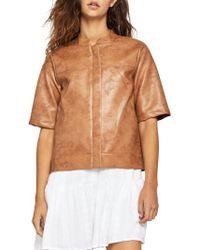 BCBGeneration - Faux Leather Boxy Jacket - Lyst