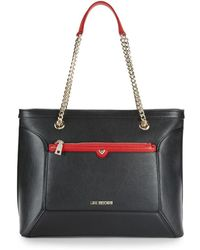 Love Moschino - Chain Faux Leather Tote - Lyst