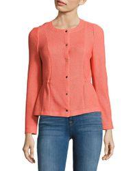 Basler | Textured Long-sleeve Jacket | Lyst