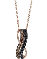 Le Vian - 14k Strawberry Gold Blackberry Diamonds Chocolate Diamonds & Vanilla Diamonds Exotics Pendant Necklace - Lyst