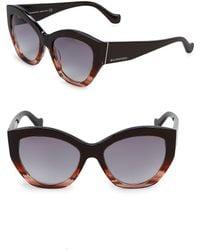 Balenciaga - Colorblock 56mm Round Sunglasses - Lyst