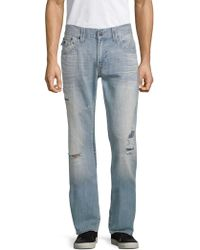 True Religion - Distressed Relaxed-fit Jeans - Lyst