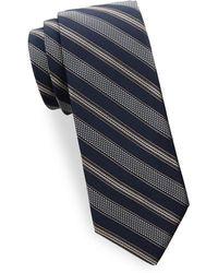 Saks Fifth Avenue - Textured Stripe Silk Tie - Lyst