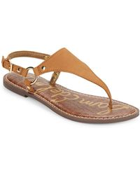 Sam Edelman - Greta Harness Ring Leather Thong Sandals - Lyst