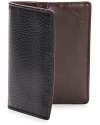 Will Leather Goods - Pebbled Leather Card Case - Lyst