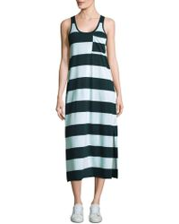 ATM - Striped Mercerized Cotton Dress - Lyst