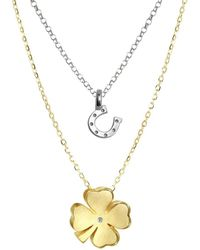 Alex Woo - Mini Additions Diamond And Sterling Silver Necklace - Lyst