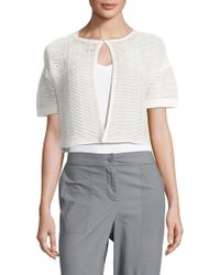 Lafayette 148 New York - Shadow Striped Cropped Top - Lyst